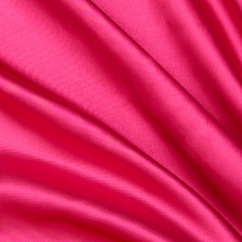 Pink Solid Satin Fabric