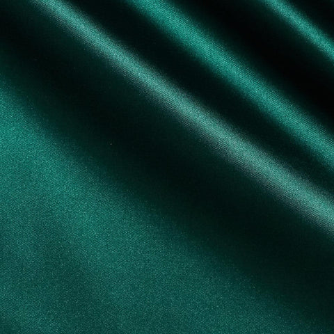 Hunter Green Solid Satin Fabric
