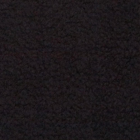 Black Solid Fleece Fabric