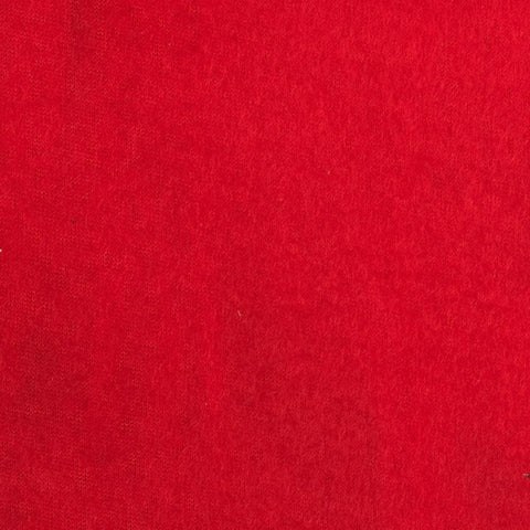 Red Solid Fleece Fabric