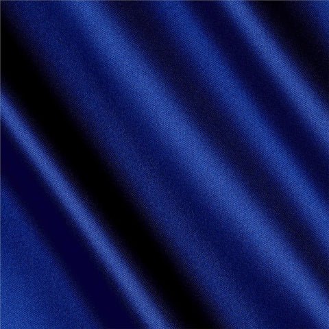 Royal Blue Solid Satin Fabric