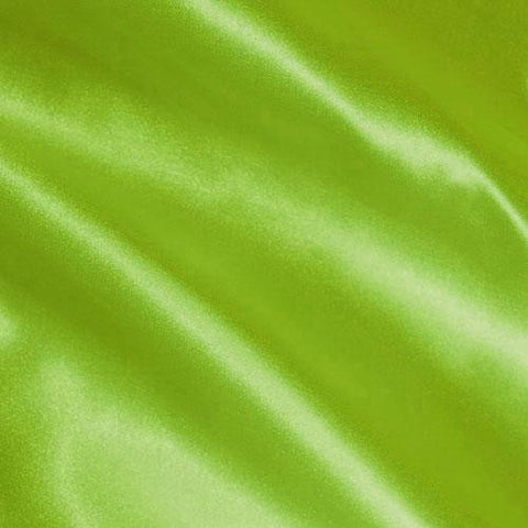 Lime Green Solid Satin Fabric