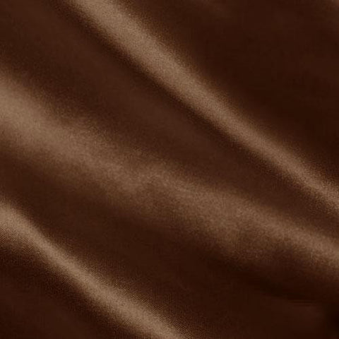 Brown Solid Satin Fabric