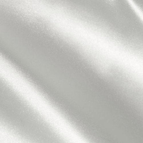 White Solid Satin Fabric