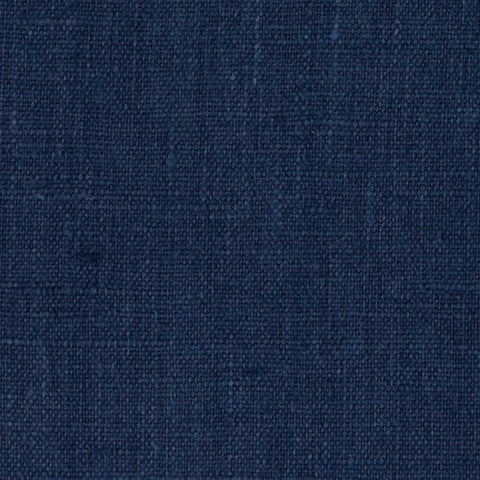 Navy Blue Solid Poly Linen Fabric