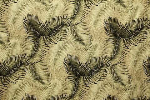 Fern White Barkcloth Upholstery Fabric