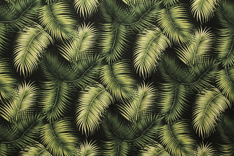 Fern Leaf Barkcloth Upholstery Fabric