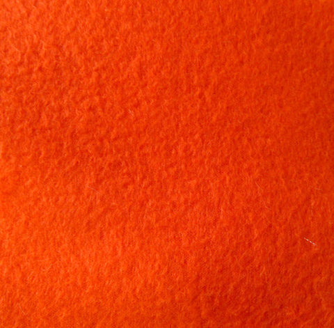 Orange Solid Fleece Fabric