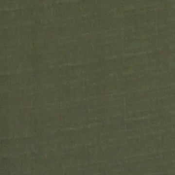 Olive Green Solid Polyester Fabric