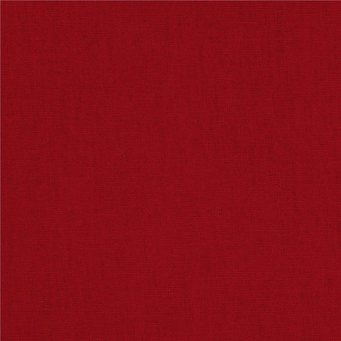 Red Solid Polylinen Fabric