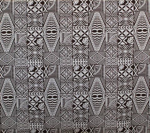 South Pacific Islander Tattoo Brown Fabric