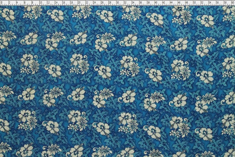 Hawaiian Hibiscus Royal Fabric