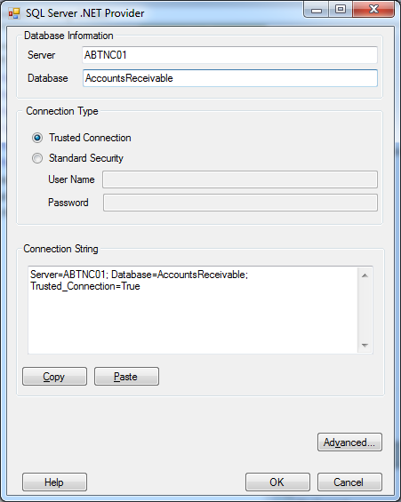 Kellerman Software Connection String Creator v1.4.0.0