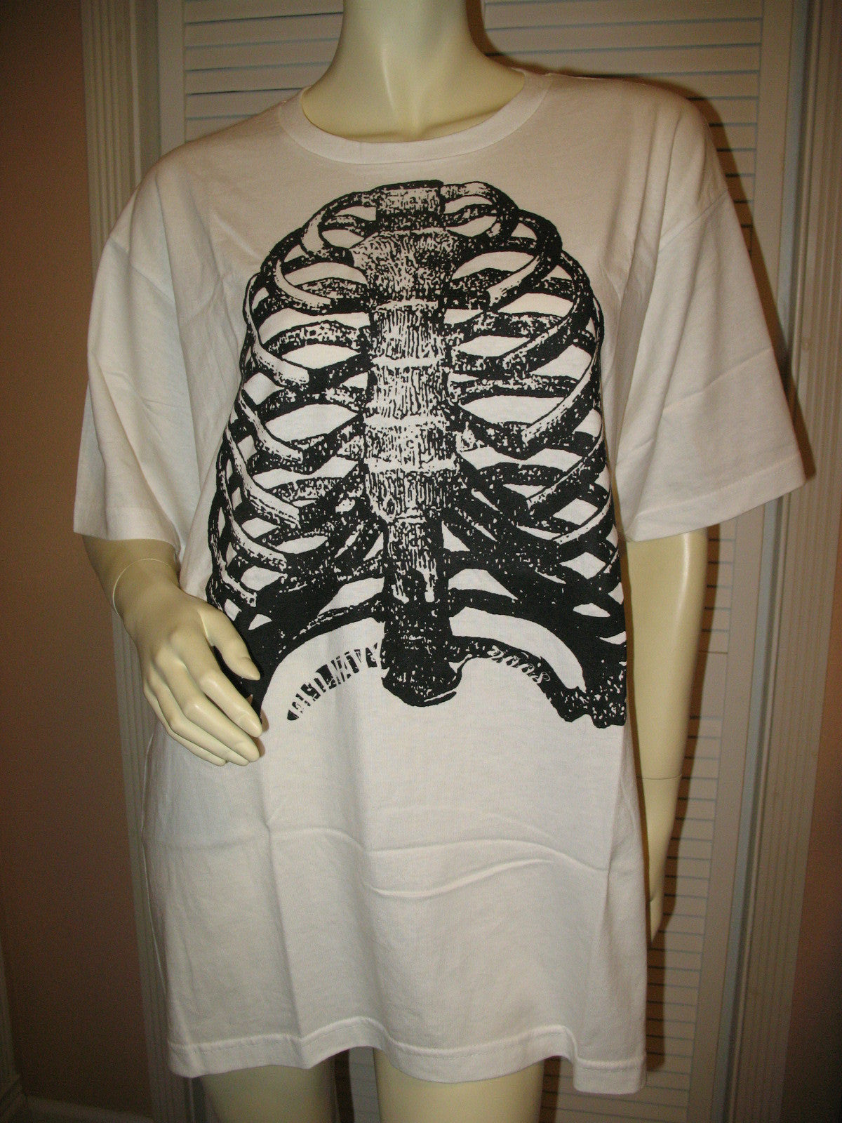 Black t shirt xxl - New Old Navy Mens Womens T Shirts White Black Skeleton Bones Halloween Prints Short Sleeve T Shirt Xxl