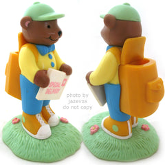 AVON Brown BEAR MAILMAN SPECIAL DELIVERY Handler Messenger Man FIGURINE Animal FIGURINES