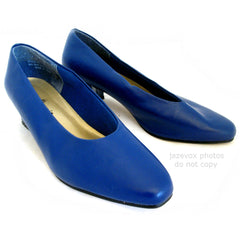 "ANNIE Womens SHOES Dark BLUE 1-3/4"" High Heels CLOSE Classics Ladies size 6 W"