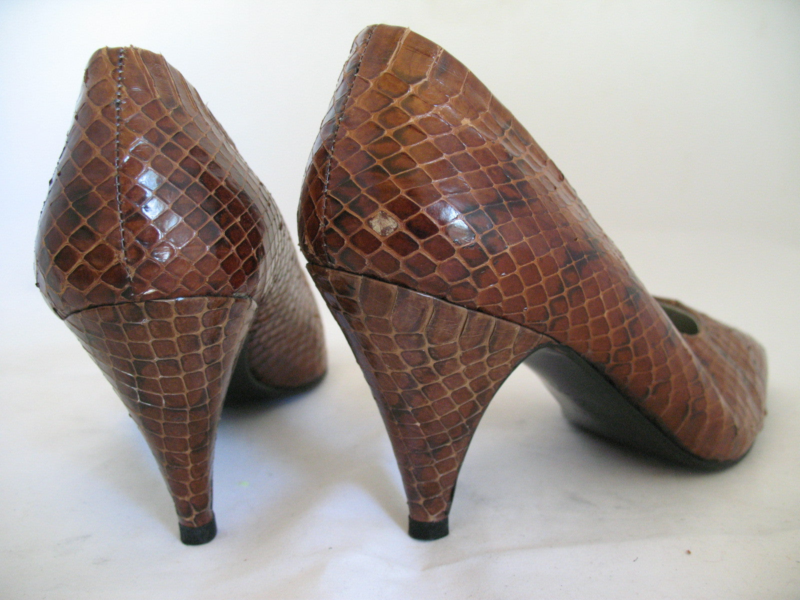 f964c62b928d ANTICOLI ROMA MADE In ITALY SNAKE SKIN SNAKESKIN Animal Pattern Leather Womens  SHOES size 5 35