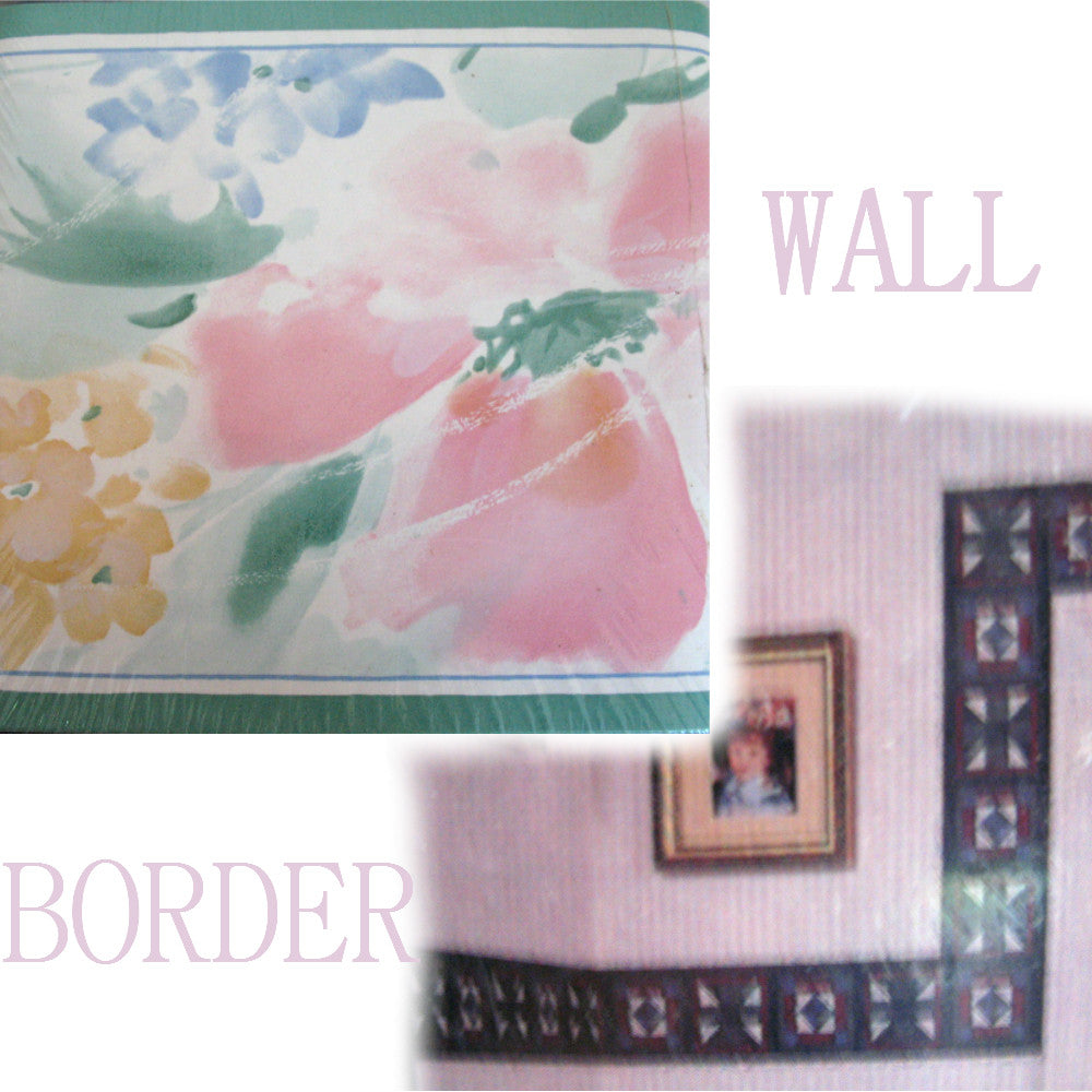 Wall Paper Wallpaper Border Pastel Color Floral Flowers Tropicalfeel