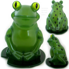 NEW NIB BOX AVON Green LIGHTED FROG Plastic FIGURINE Animal Indoor Table Decor