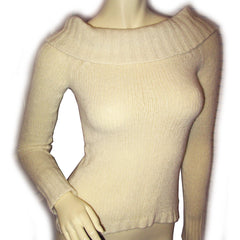 AMERICAN EAGLE OUTFITTERS Womens LIGHT YELLOW Long Sleeve Knit Sweater TOP Small