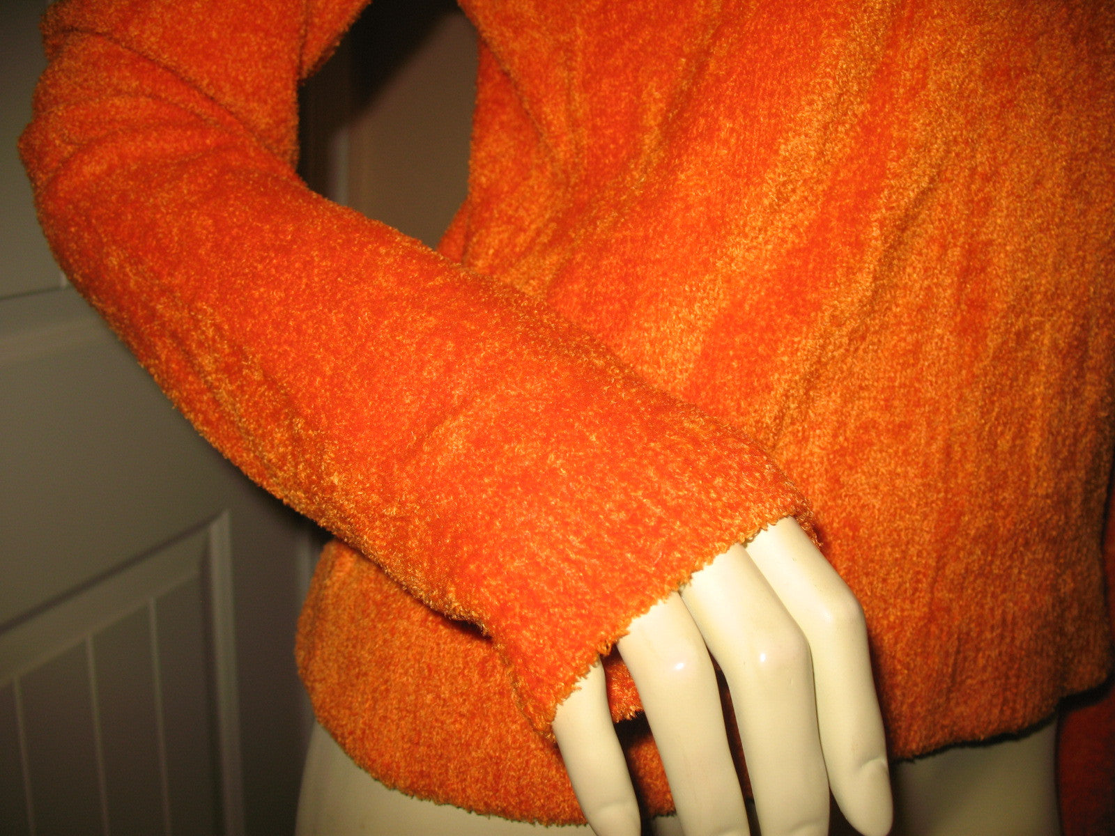 Womens Sweaters Tops Bright Orange Long Sleeve Winter Layering