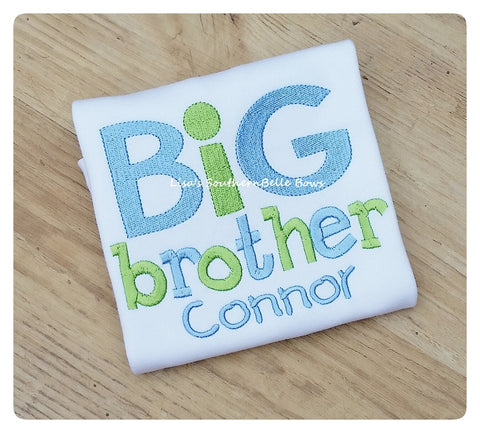 Big Brother Sibling Shirt, Personalized tshirt for boys, New Baby, Birth Announcement