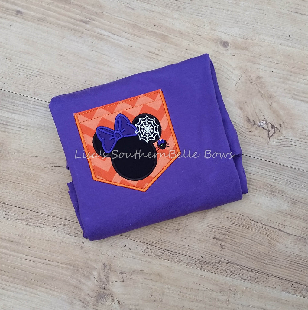 Minnie Mouse Pocket Tee, Halloween Shirt for Women