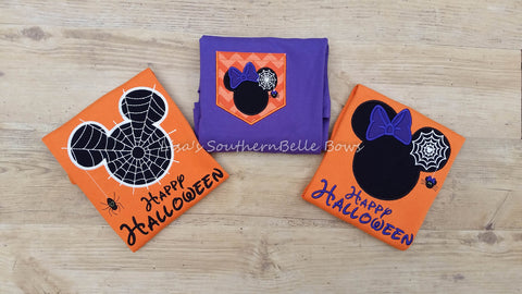 Minnie Mouse and Mickey Mouse Halloween Shirts