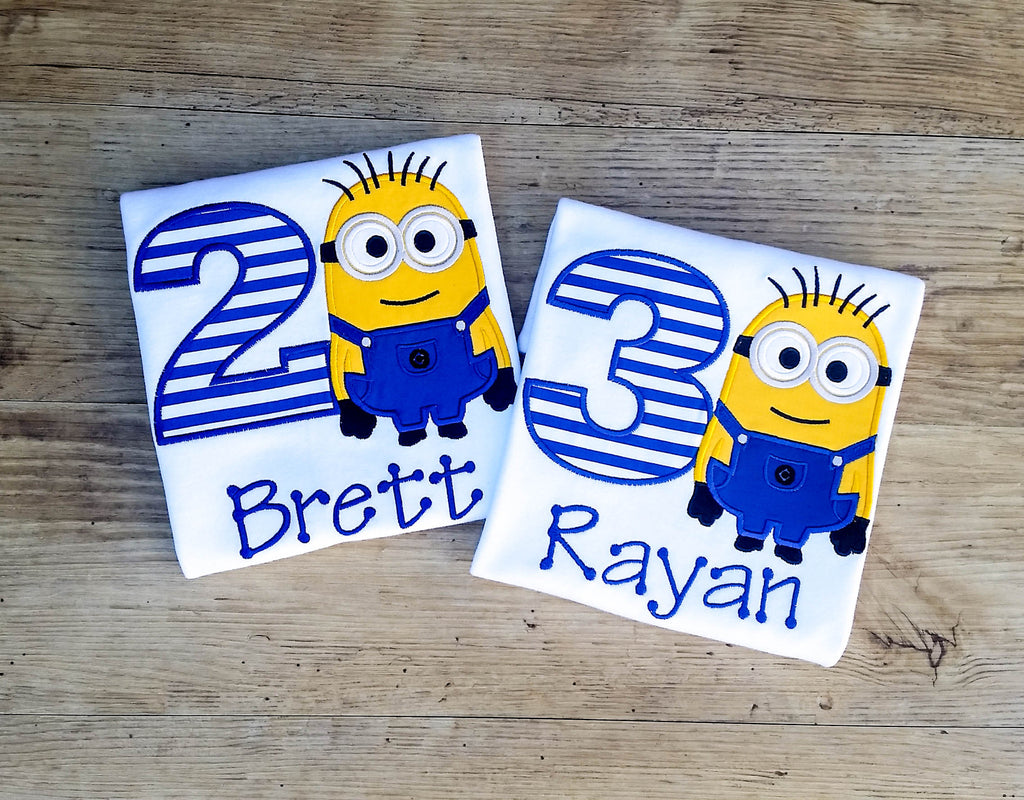 Minion Birthday Shirt, Personalized Birthday T-Shirt