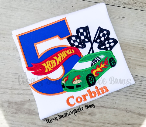 Hot Wheels Birthday Shirt, Personalized Birthday Shirt for Boys