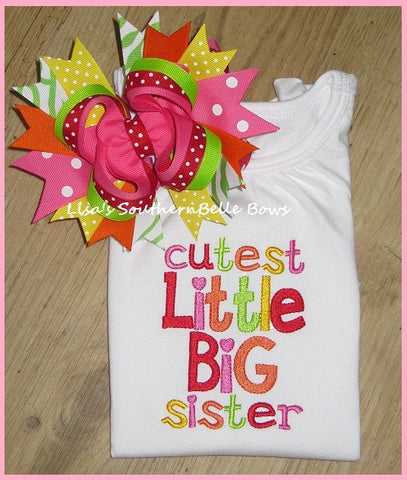 Cutest Little Big Sister, Sibling Set, New Baby Announcement, Sibling Shirt