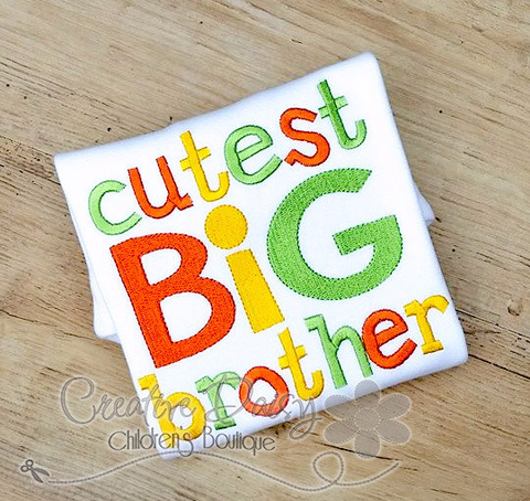 Cutest Big Brother, Sibling Shirt