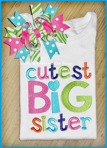 Cutest BIG Sister, Sibling Shirt, Baby Announcement