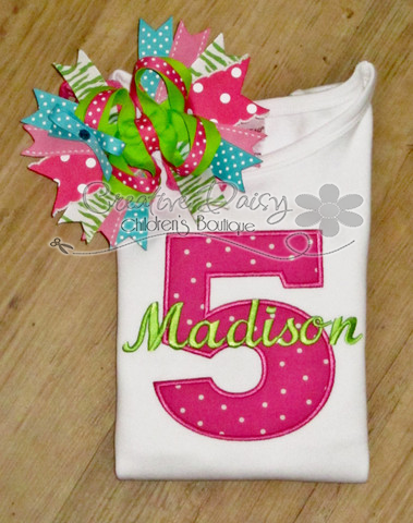 Birthday Number Applique, Birthday Shirt