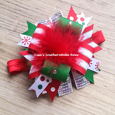 Boutique Christmas Hair Bow