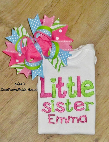 Little Sister Sibling Shirt, Personalized Sibling Shirt