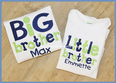 Big Brother, Little Brother Sibling Shirt Set