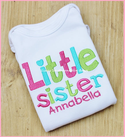 Little Sister, New Baby, Hospital Sibling Shirt