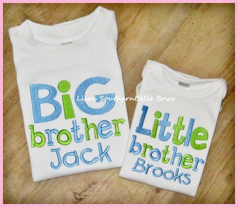 Little Brother, Sibling Shirt, New Baby, Birth Announcement