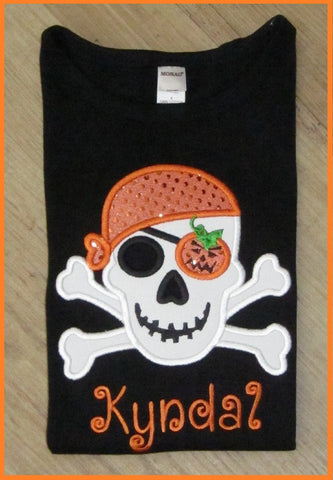 Pirate Skull, Halloween Shirt for Girls and Boys