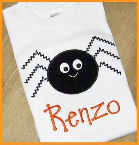 Halloween Spider TShirt for Girls and Boys