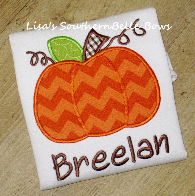 Personalized Pumpkin Shirt, Fall and Thanksgiving Shirt for Girls