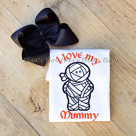 I Love My Mummy, Halloween Mummy Shirt for Girls - New Item