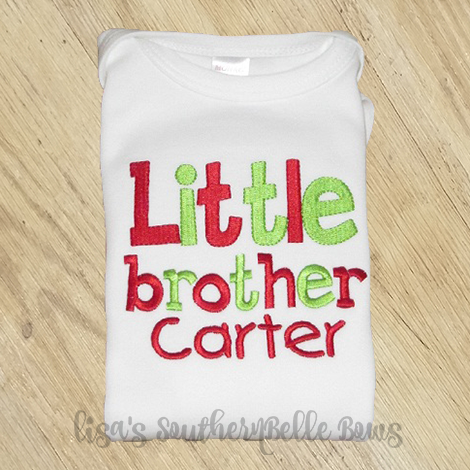 Little Brother Christmas Sibling Shirt, First Christmas, New Baby