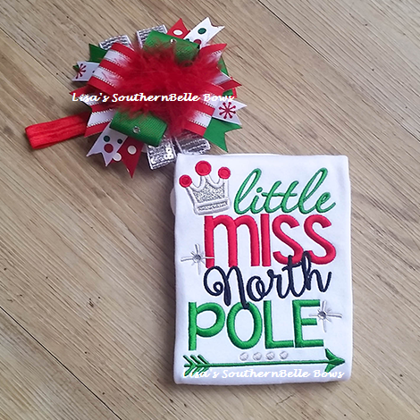 Little miss north pole Christmas set for girls