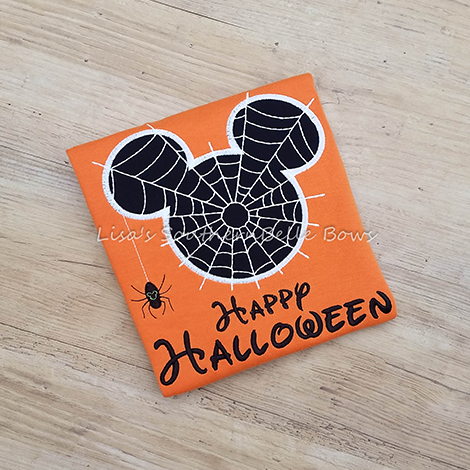 Mickey Mouse, Spider Halloween, Glow in the Dark Shirt for Boys
