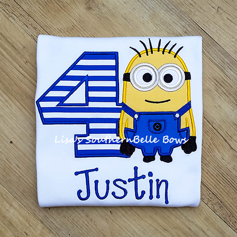 Minion Birthday Shirt, Personalized Minion Birthday Shirt