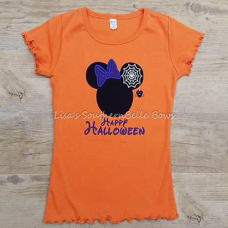 Custom Minnie Mouse Halloween Shirt for Girls