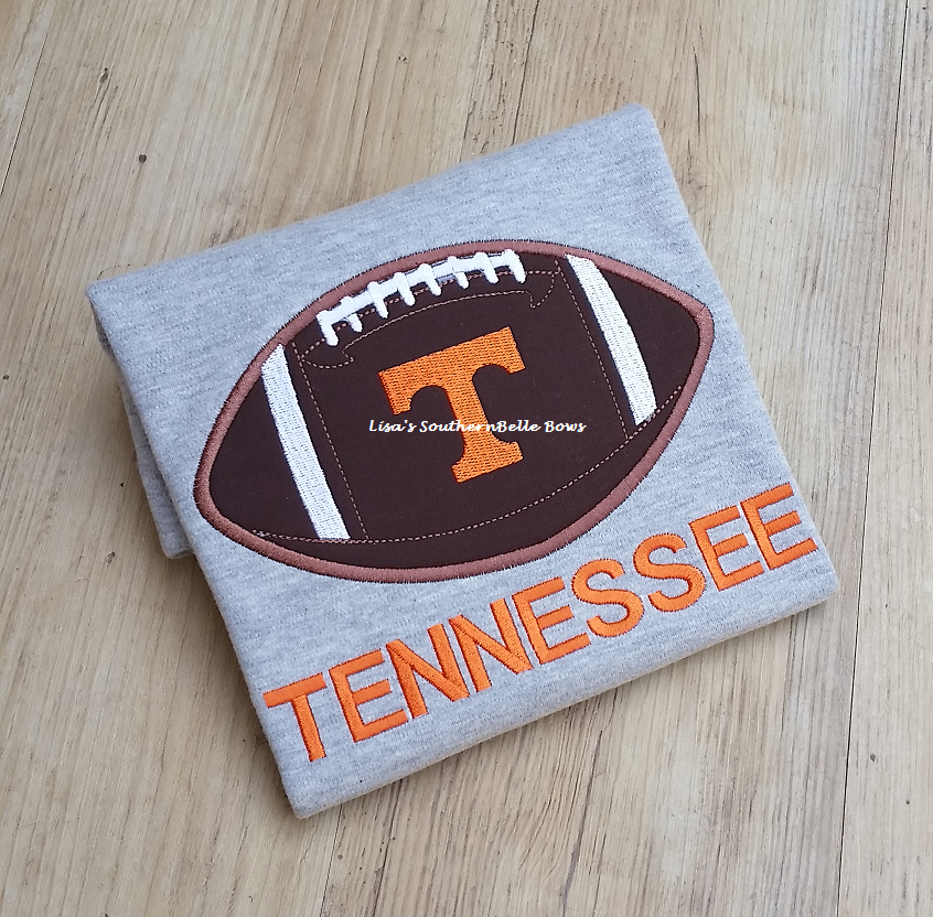 Tennessee Vols, Applique Football Shirt for Boys