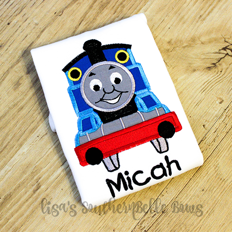 Thomas the Train Applique, Birthday Shirt